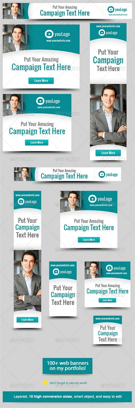 Corporate Web Banner Design Template 28 Graphicriver Website Advertisement Template
