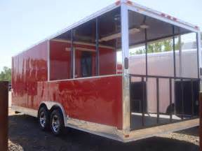 bbq porch 8 5x24 bbq concession food vending trailer with porch trailer country arkansas trailer dealer