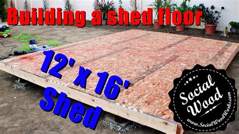 how to frame a floor how to build a shed how to frame a shed floor