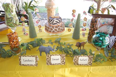 jungle theme table decorations a flawless a sweet safari baby shower