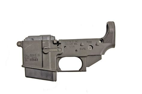 Sn Lower 1 dpms mdl a 15 cal 223 sn 25383 lower receiver frame stripped of trigger and stock parts with one ma