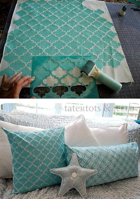 fabric pattern stencils ideas diy stencil fabric what a great way to put together all