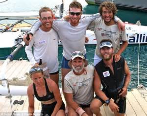 boat with four oars and three rowers woman spends 31 days rowing across atlantic naked with 5