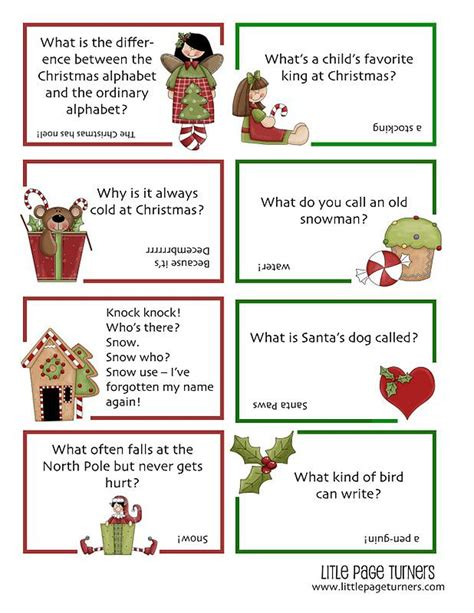 printable christmas jokes for adults 7 free printable christmas lunchbox notes spaceships and