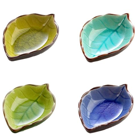 Handcraft Creative - handcraft creative leaves ceramic plates japanese sushi