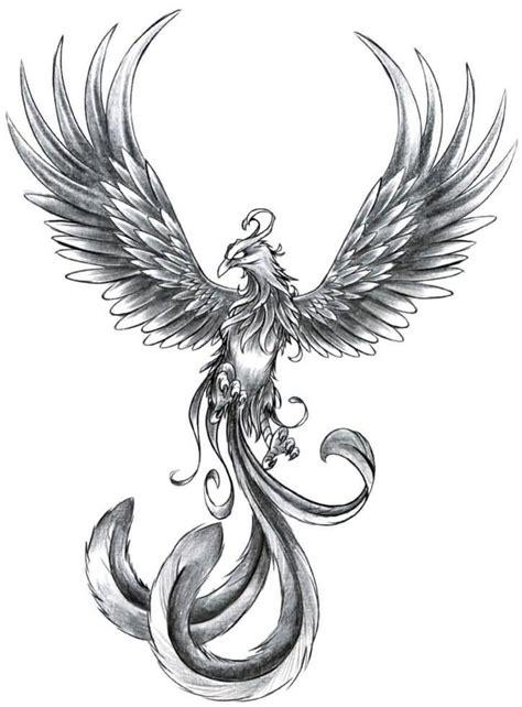 phoenix tattoo white ink grey ink phoenix tattoo design
