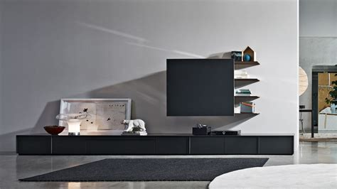 movable tv stand living room furniture pass word bookshelves and multimedia molteni