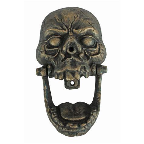 Unique Door Knockers knock jaw cast iron skull door knocker the green head