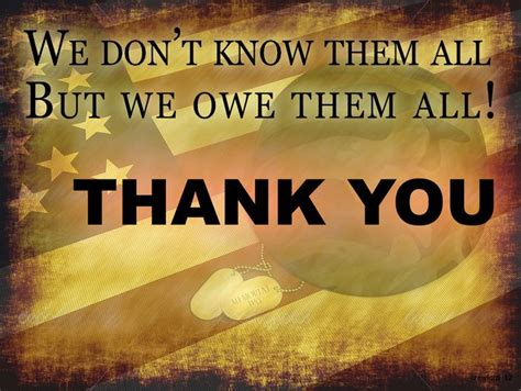 2015 veterans day thank you quotes we don t know them all but we owe them all thank you