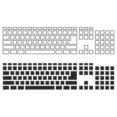 template of keyboard vector for free use keyboard template