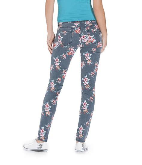 floral pattern skinny jeans aeropostale womens ashley ultra floral pattern skinny fit