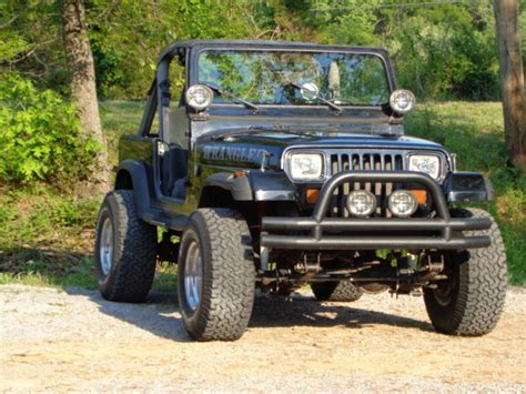 black jeep yj wrangler ford 5 0 mustang 4 speed rod