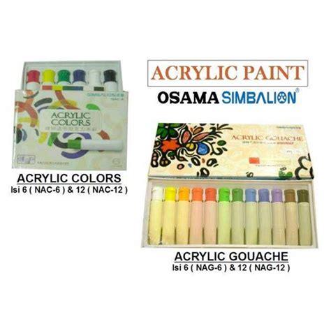 Pelembab Berbahan Dasar Air jual osama simbalion water base acrylic paint colors gouache cat air berbahan dasar air
