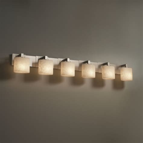 6 light bathroom vanity lighting fixture justice design group 6 light oval clouds resin brushed