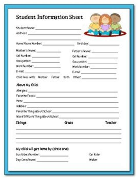 Information Packet Template Back To School Student Information Packet