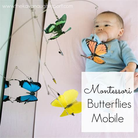 montessori mobile printable montessori baby week 16 the butterflies mobile