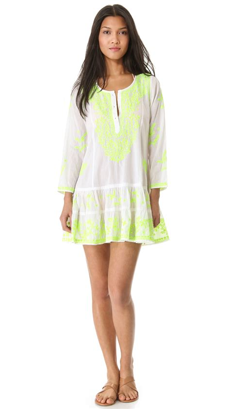 dress cover up juliet dunn sleeve cover up dress in white lyst