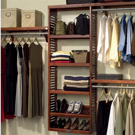 closet organizers john louis home 120 quot w closet system reviews wayfair