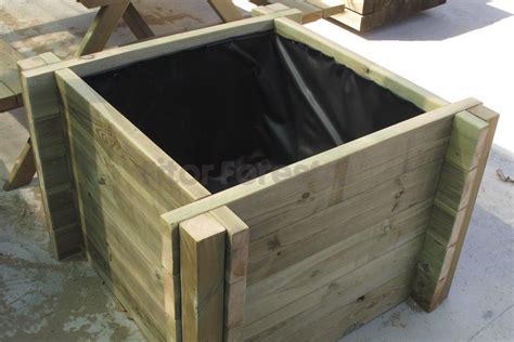 maceteros de madera para interior jardineras de madera grandes maceteros de madera