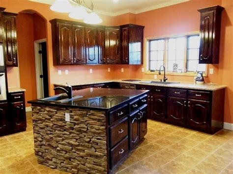 Stone Kitchen Island | stacked stone kitchen island home on tim s ford contact sandy poe 865 357 3232 or 865 207 0004