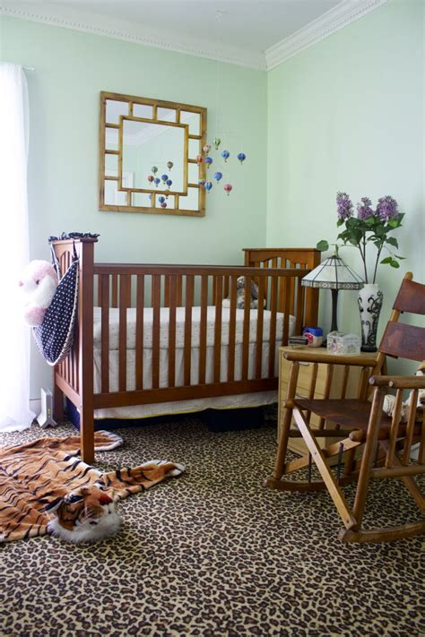 mint green nursery makeover ramshackle glam