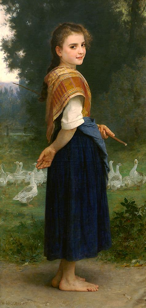 william adolphe bouguereau young girl the goose girl william adolphe bouguereau wikiart org