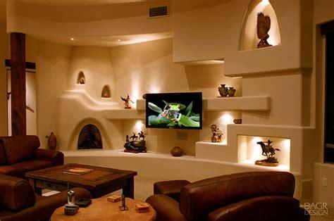 Southwest Outdoor Lighting - southwest style southwestern family room phoenix by dagr design custom home theater