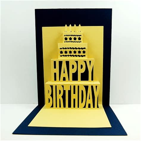 Happy B Day Pop Up Card Template by 17 Best Images About Pop Up On Birthdays Gift