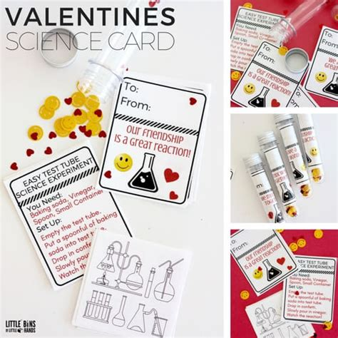 science valentines cards printable glow stick science cards for s day