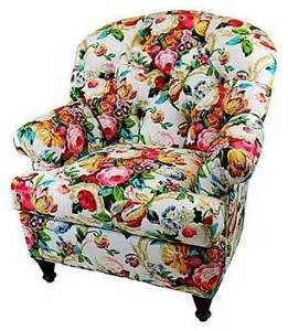 Floral Print Accent Chairs Pre Owned Chintz Floral Club Chair Contemporary