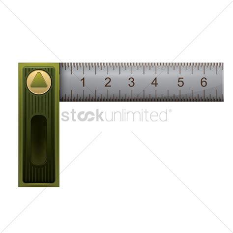 printable l ruler l square angle ruler vector image 1826604 stockunlimited