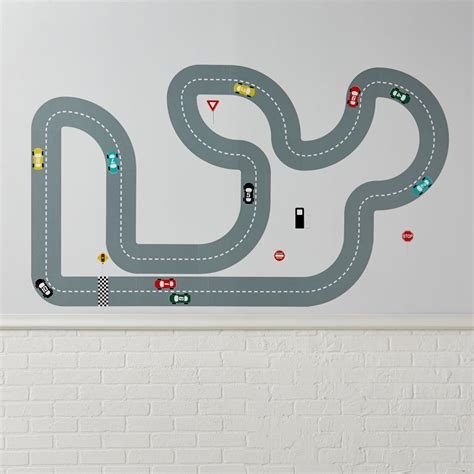 race track wall stickers race track decals the land of nod