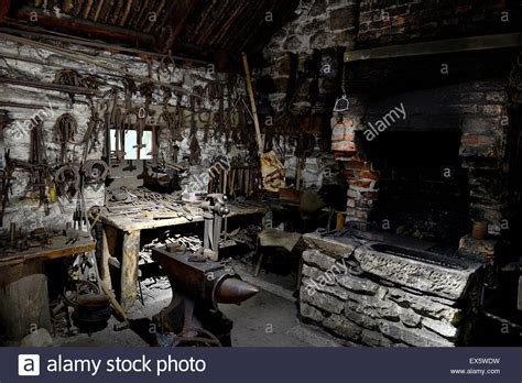 interior of 19th century blacksmith s forge at the