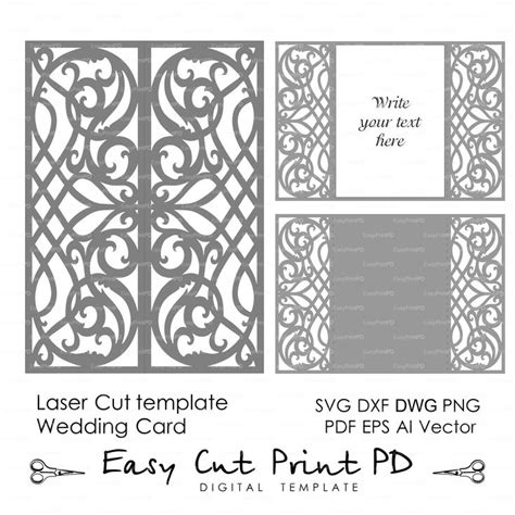 Rolodex Laser Cards Template by Card Template Swirls Stencil Scroll Door Gate Folds