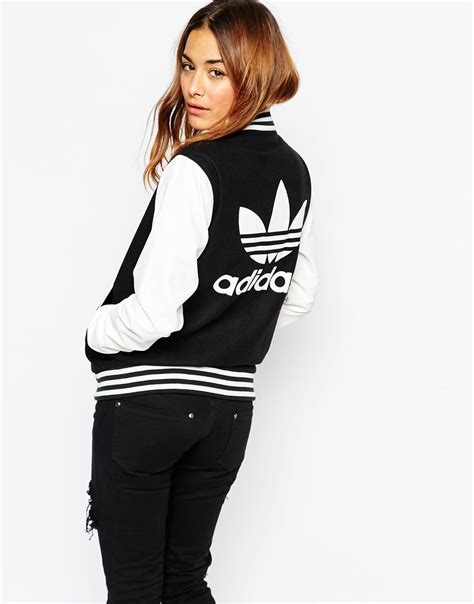 Jaket Adidas Motif Black 1 adidas originals bomber jacket lyst
