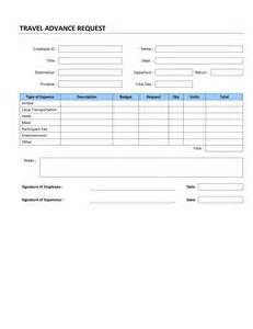 request for form template travel advance request template free microsoft word