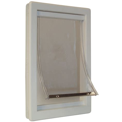 Patio Panel Pet Doors Large Patio Pet Door Cat Flap Telescoping Frame Panel Easy Install New