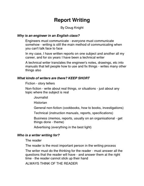 essay report layout best photos of report writing format exle report