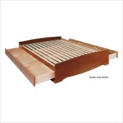 Wood Twin Bed Frame With Drawers Cherry Twin Platform Storage Bed Wood Storage Drawers Wood
