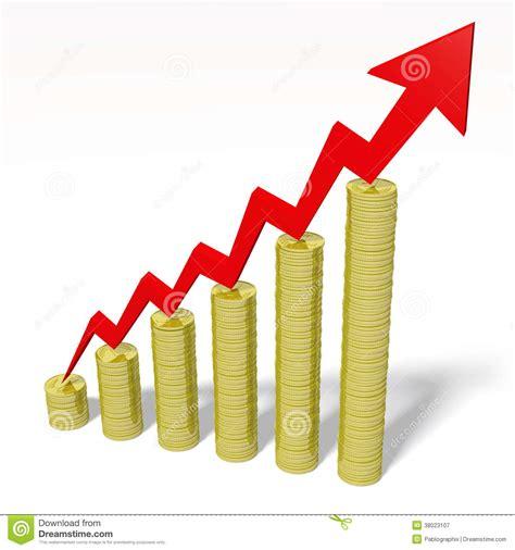 clip stock 3d graphics money coins arrow growth progress stock