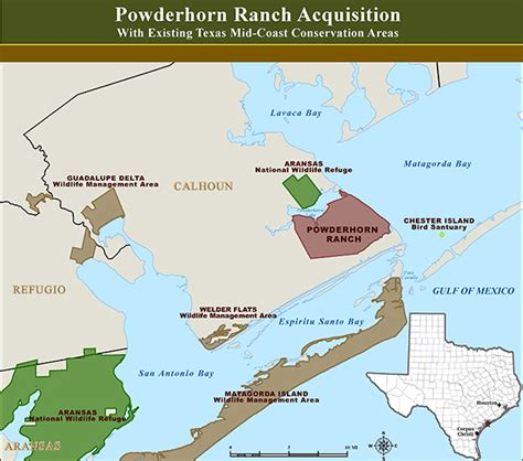 ranch texas map powderhorn ranch the conservation fund