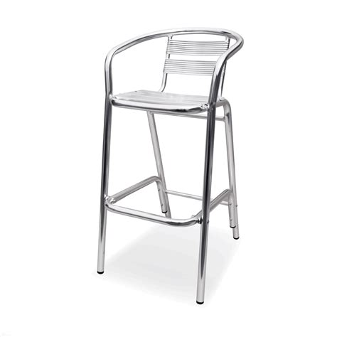 outdoor aluminum bar stools bahamas outdoor aluminum bar stool w arms bar