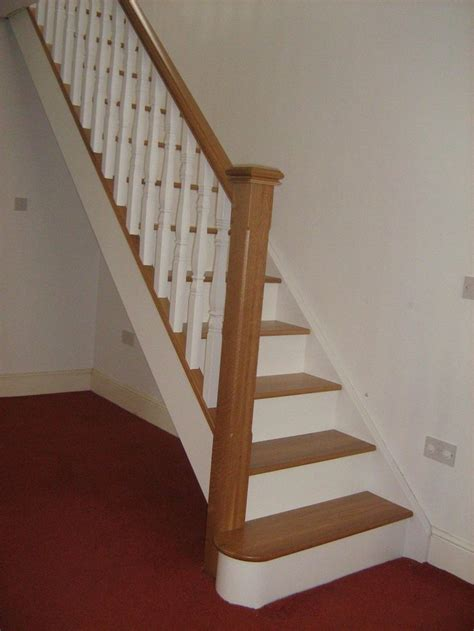 Staircase Update Ideas Oak And White Staircase With White Spindles Would Painting Just The Risers Help As An Update Or