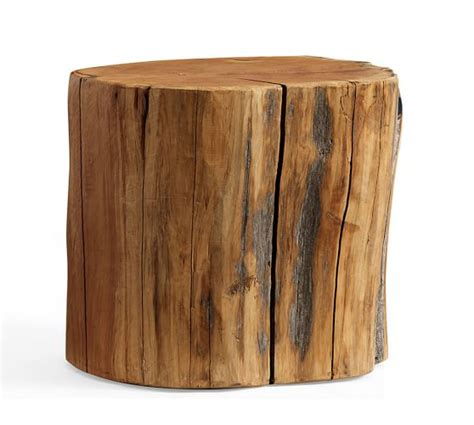 reclaimed wood stump table reclaimed wood stump table pottery barn