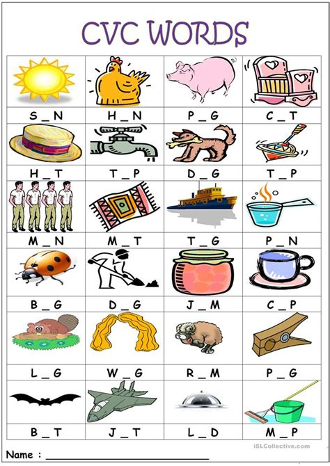 Cvc Words Worksheets by Printables Cvc Word Worksheets Gozoneguide Thousands Of Printable Activities