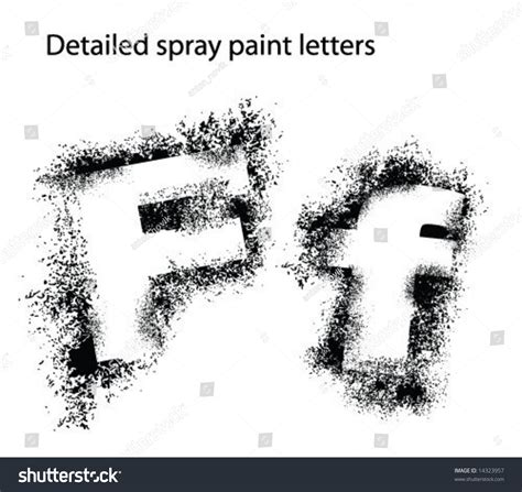 real spray paint font detailed spray paint font ff stock vector illustration