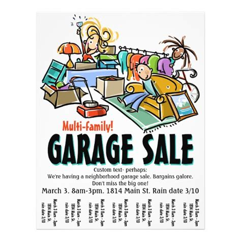 yard sale template garage sale moving sale yard sale custom flyer zazzle