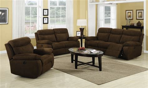 microfiber reclining sofa sets sadie 2 piece power reclining sofa set in chocolate