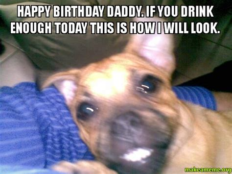 Happy Birthday Dad Meme - happy birthday daddy if you drink enough today this is
