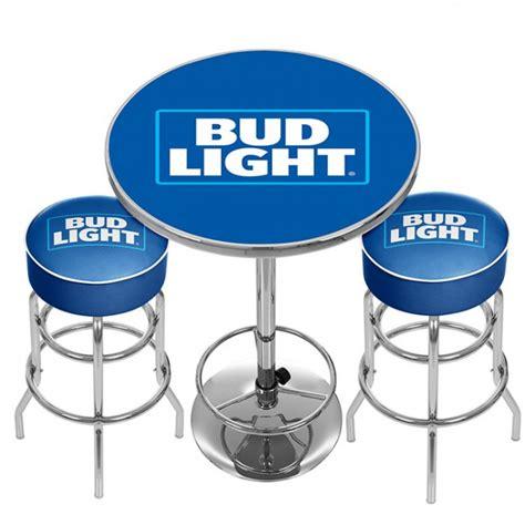 bud light bar light bud light pub combo bar stools table officially